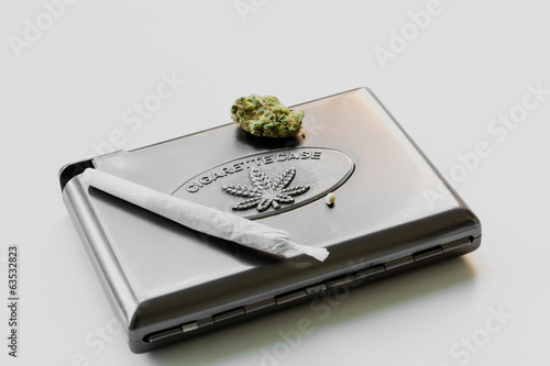 Cannabis cigarette case