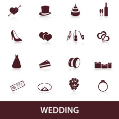 wedding icons eps10