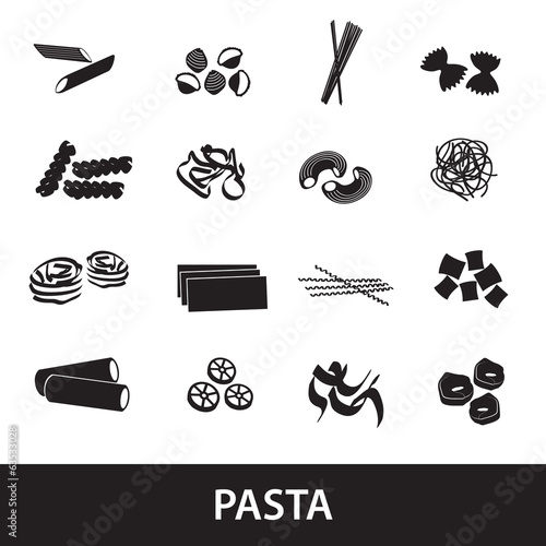 types of pasta food eps10