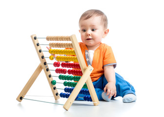 baby boy with abacus