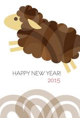 羊の年賀イラスト 2015