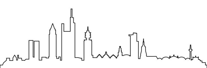 Skyline Frankfurt am Main Linie