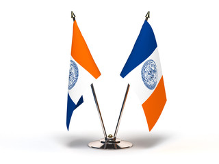 Miniature Flag of New York City