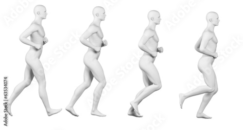 running cycle illustration - white body