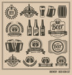 Beer Icon Set - labels, posters, signs, banners, vector design - 63534253