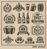 Fototapety Beer Icon Set - labels, posters, signs, banners, vector design