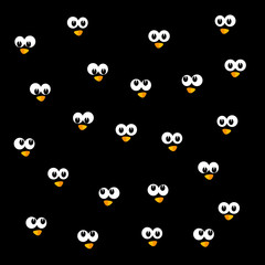 background with penguin head vector