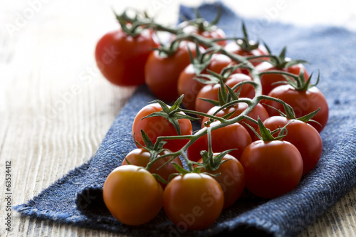 Organic Cherry Tomato on the table