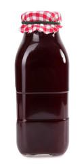 Homemade juice in glass bottle