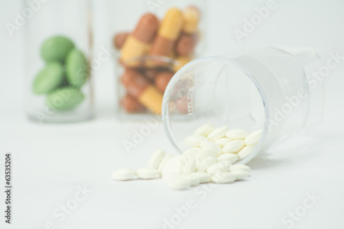 pills out of container