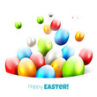 Modern colorful Easter background