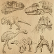 Dinosaurs no.2 - an hand drawn illustrations, vector set