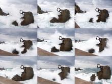 Ola explotando / La bravura del mar Cantábrico