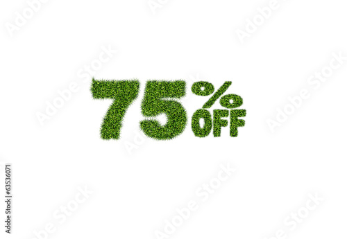 75% off discount sale icon