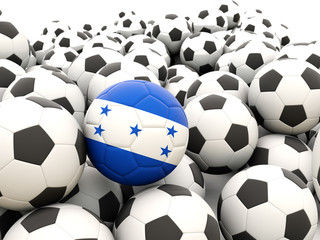 Football with flag of honduras