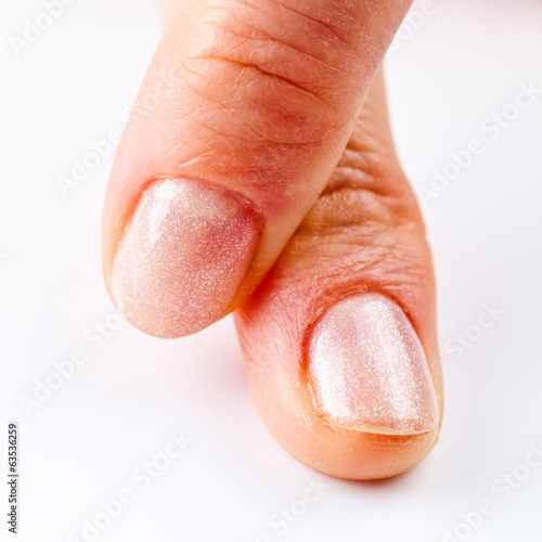 manicure on short nails