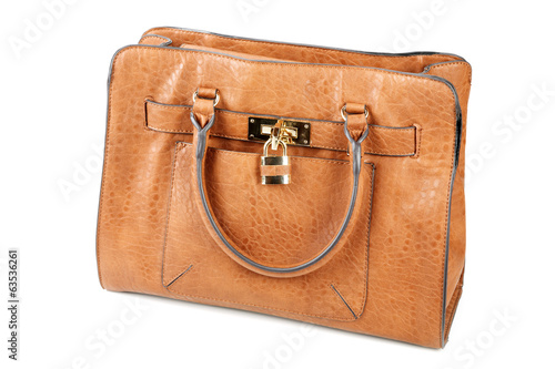 brown female bags isolated on a white background