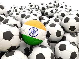 Football with flag of india
