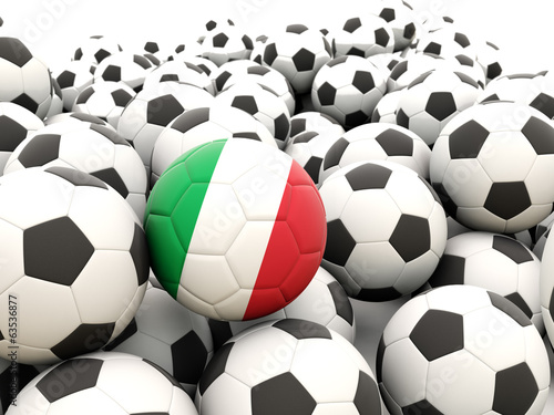 Football with flag of italy