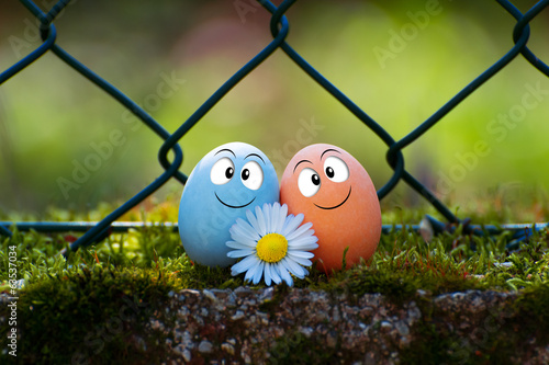 a couple of funny eggs for Happy Easter