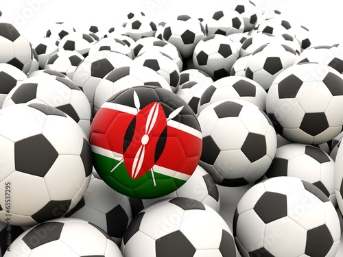 Football with flag of kenya