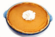A Whole Fresh Baked Pumpkin Pie with Whipped Cream