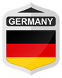GERMANY - Silver shield icon with national flag