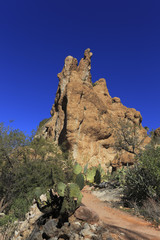 Steep Cliffs of Sonoran Upland Area, AZ