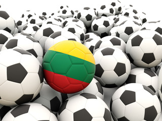 Football with flag of lithuania