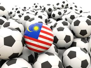 Football with flag of malaysia