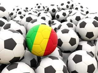 Football with flag of mali
