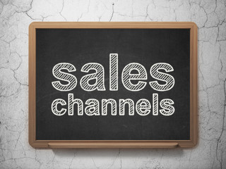 Marketing concept: Sales Channels on chalkboard background
