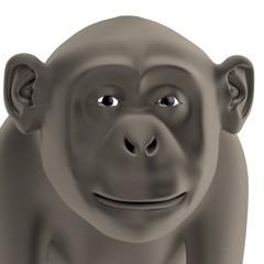 realistic 3d render of chimpanzee