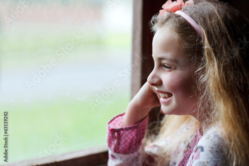 canvas print picture portrait of girl