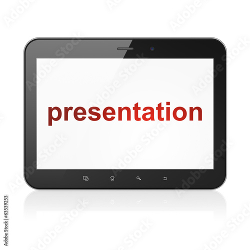Marketing concept: Presentation on tablet pc computer