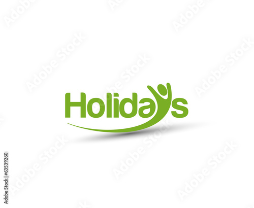 Symbol of Holiday, isolated vector design