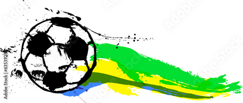 Soccer / Football illustration,brazil free copy space, vector