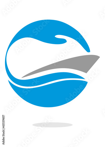 speedboat waves in circle