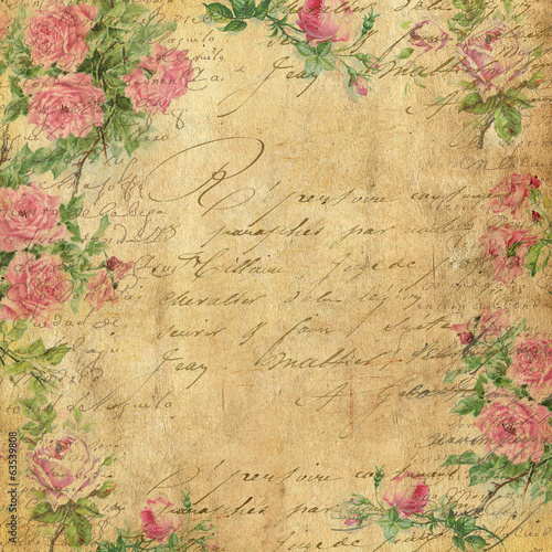 Vintage Background. Old Vintage Illustrations. Vintage Paper