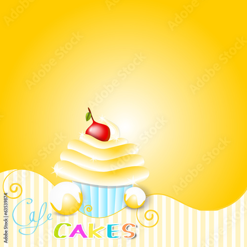 muffin cakes background