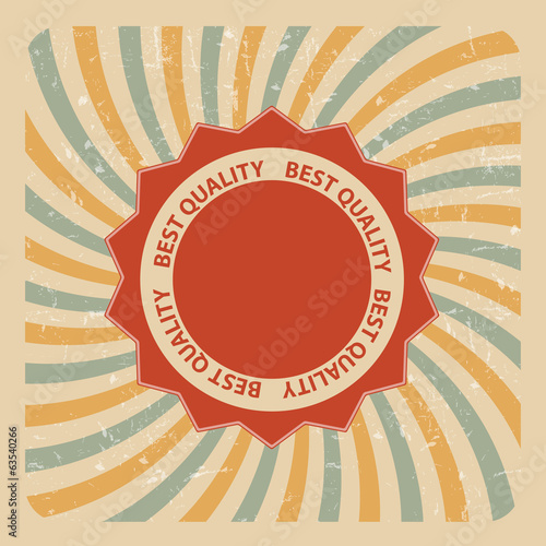 Retro Grunge Quality Label Vector Illustration