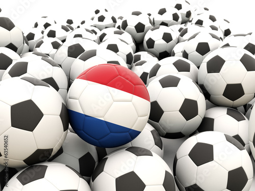 Football with flag of netherlands