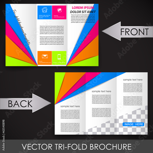 Tri-fold corporate business store brochure