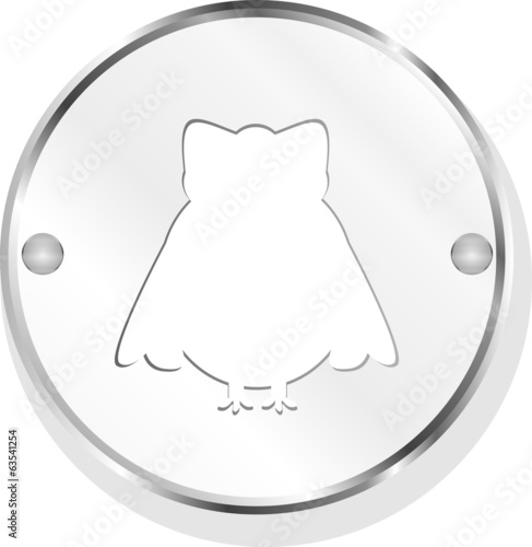 Owl web icon button isolated on white