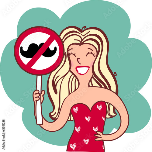woman with prohibition sign