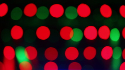 Defocused stage lights