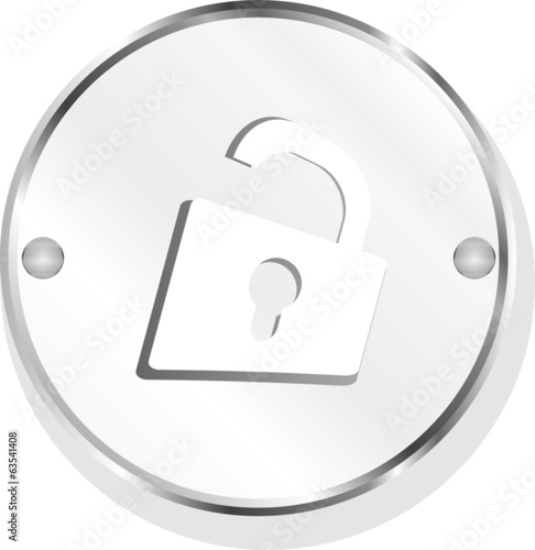 Padlock icon web sign isolated on white