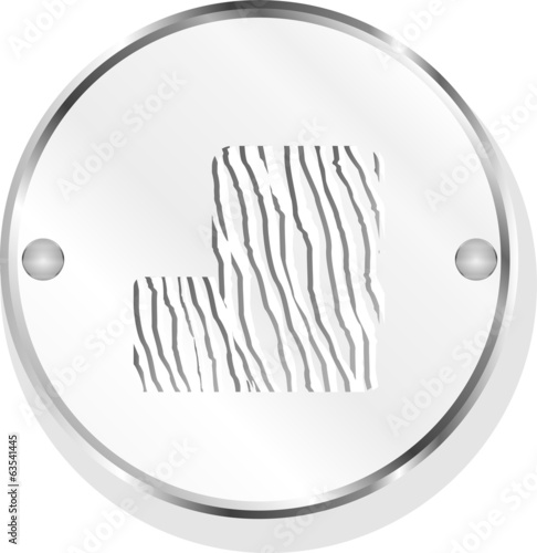 abstract icon on internet button isolated on white