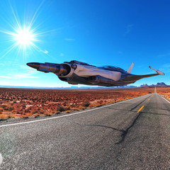 super jet on the desert
