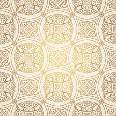 Vintage seamless background with lacy ornament.